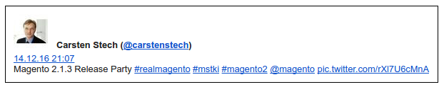 Magento 2.1.3 Release-Party